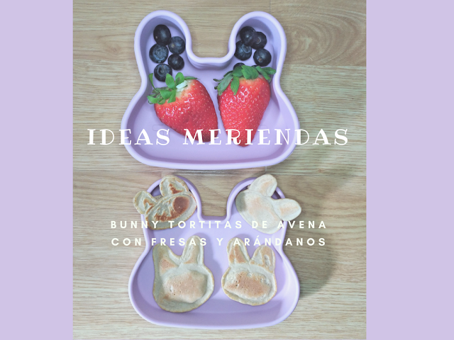 IDEA MERIENDA para niños niñas peques  Bunny Tortitas We Might Be Tiny Tutete Porta snacks snackie
