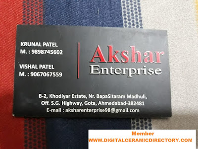 AKSHAR ENTERPRISE GOTA AHMEDABAD 9898745602 9067067559