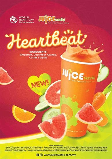 Jom Minum Minuman yang Lebih Sihat dengan Juice Works Heartbeat