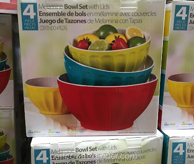 4-Piece Melamine Mixing Bowl Set - perfect for leftovers or food prep