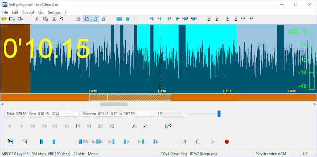 تحميل برنامج قص الاغاني للكمبيوتر مجانا mp3DirectCut 2.22