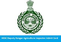HSSC Deputy Ranger Agriculture Inspector Admit Card