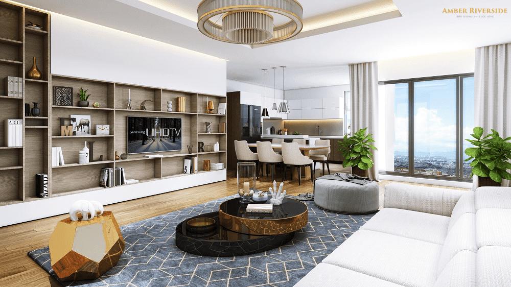 Thiết kế căn hộ mang phong cách hiện đại của Amber Riverside