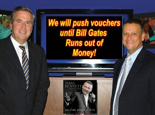 Image result for big education ape jeb bush tony bennett