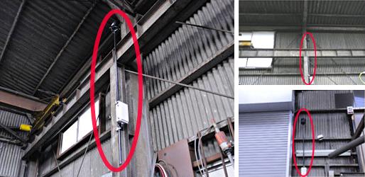 工場内のハト対策に鳥獣防除機設置