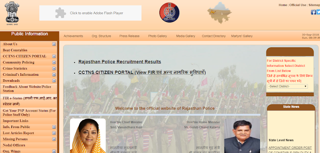 Rajasthan Police SI Admit Card 2018 : Download Exam Call Letter