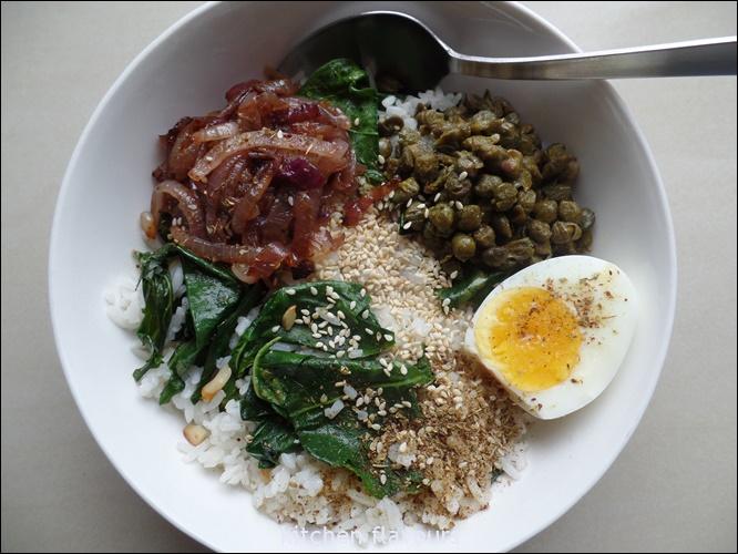 kitchen flavours: Kale Rice Bowl