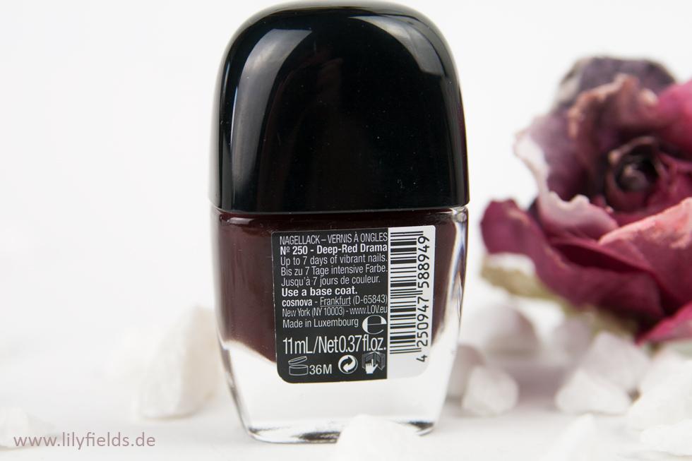 L.O.V. LOVinity - Long Lasting Nail Lacquer - 250 Deep Red Drama