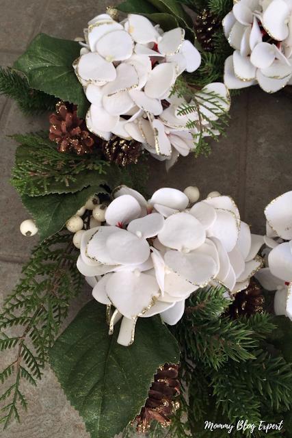 Christmas Hydrangea Wreath