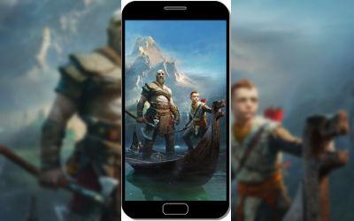 God of War 4 Kratos et son Fils - Fond d'Écran en QHD pour Mobile