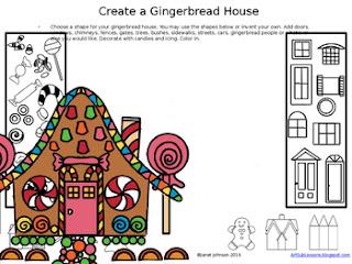 Art worksheet to create a gingerbread hose