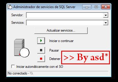 Ventana de administrador de servicios