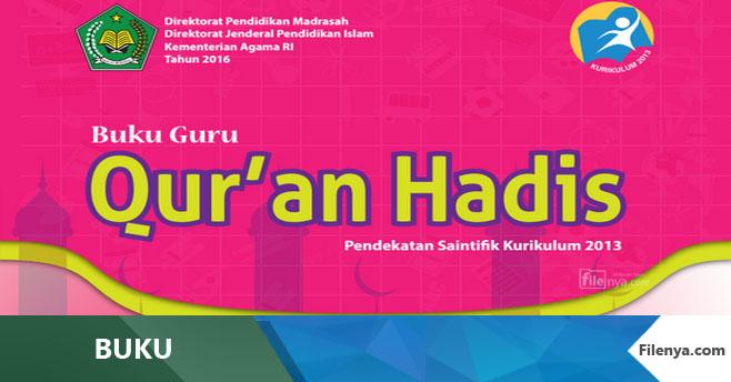 Buku MI Kls 6 Qur'an Hadis (Qurdis) Kurikulum 2013 Revisi 2016