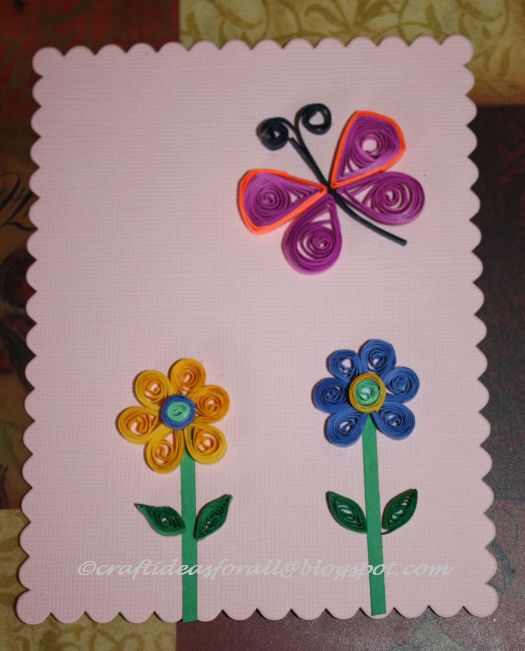 Craft Ideas For All Paper Quilling For Kids