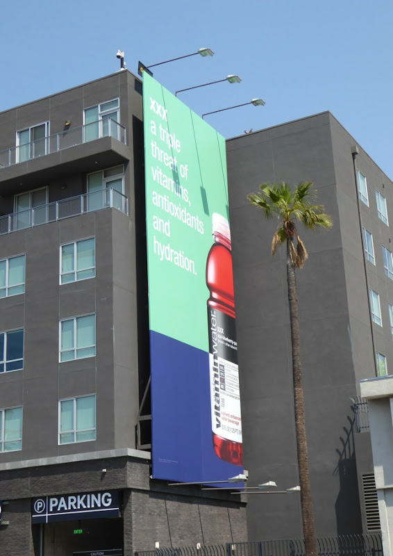 Vitamin Water XXX triple threat billboard