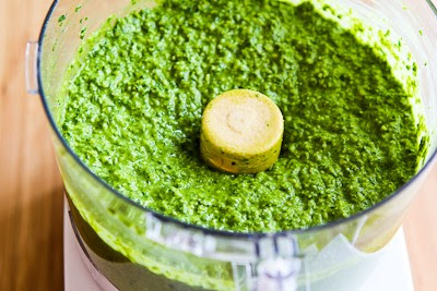 Spinach and Basil Pesto Recipe (and Ten More Interesting Pesto Variations) found on KalynsKitchen.com