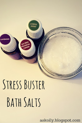 stress busting bath salts recipe DIY how to esential oils | Hot Pink Crunch