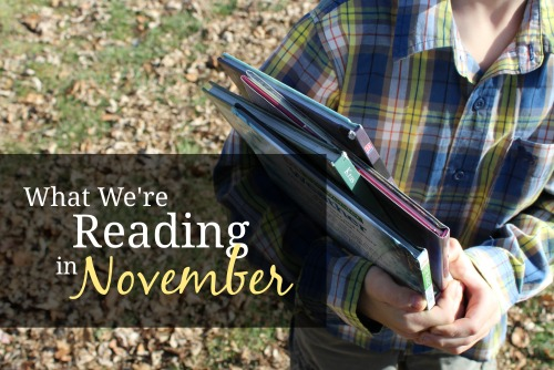 The November booklist of a homeschool family of 7