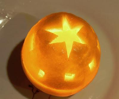lampion dari jeruk bali