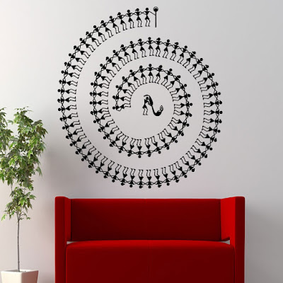 Warli Tarpa dance wall decal