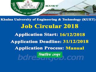 KUET Professor, Lecturer and Employee Recruitment Circular 2018