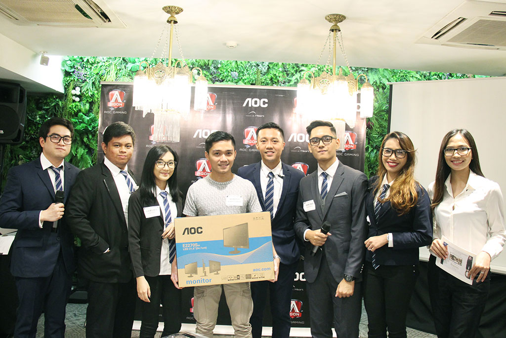 AOC also officially introduced their new brand influencers, namely Kang Dupet, Mickee Lacerna, Paco Santos, Grant Soriano, and Alvin Pacheco