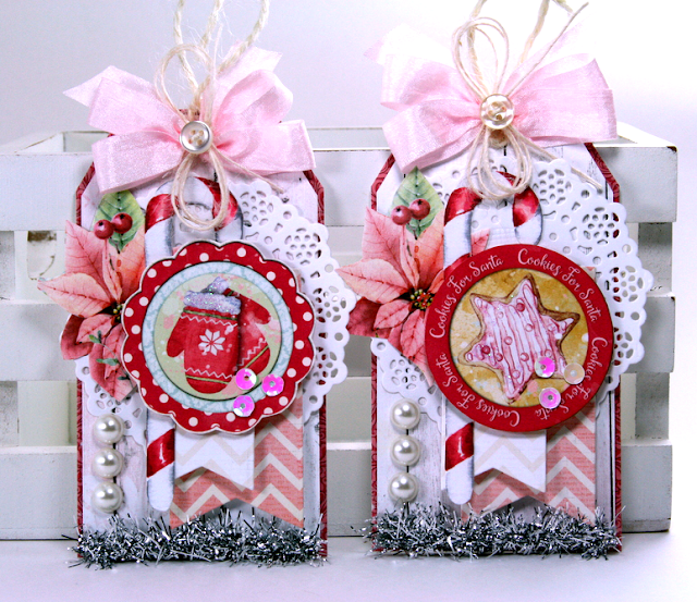 All I Want For Christmas Tags by Ginny Nemchak using BoBunny Carousel Christmas