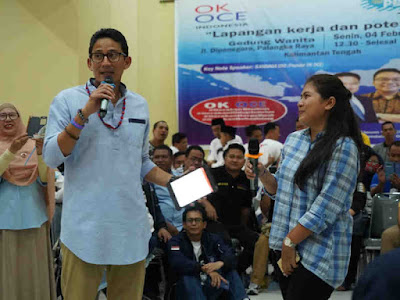 Generasi Muda di Palangkaraya Mengeluh Pekerja Asing ke Sandiaga Uno