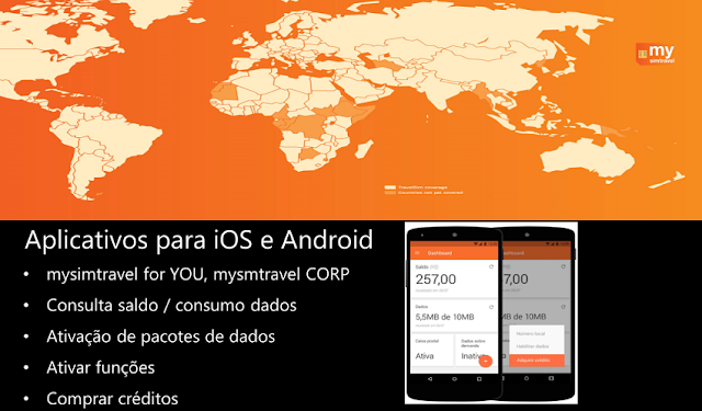 Aplicativo do Chip de celular para usar na América do Sul: Mysimtravel