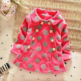 Baju Mantel Bayi Lucu Motif Pulkadot Bahan Tebal 2