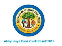 Abhyudaya Bank Clerk Result 2019