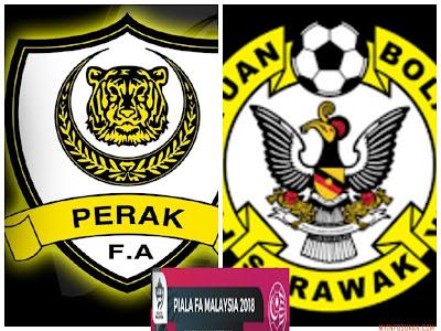 Live Streaming Perak vs Sarawak Piala FA Malaysia 3 Mac 2018