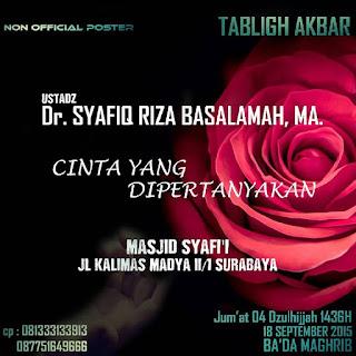 [Download Audio] Kajian Ust. Dr. Syafiq Reza Basalamah MA - Cinta Yang Dipertanyakan