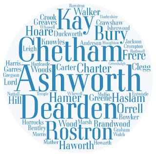 Surnames: Kay, Chetham, Ashworth, Dearden, Rostron