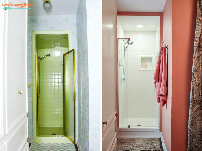 avocado green shower