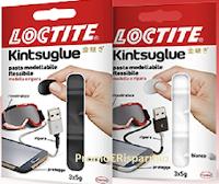 Logo Campioni omaggio pasta modellabile e riparatrice Loctite Kintsuglue: richiedilo gratis