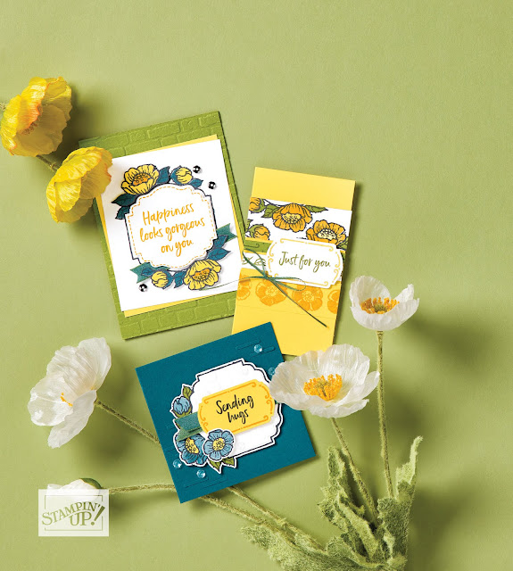 Stampin' Up Sale-a-Bration second release Tags In Bloom stamp set samples