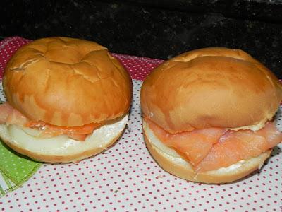 bagel americano receita salmão