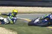 Rossi Jatuh Dan Tidak Lanjutkan Race MotoGP Motegi Jepang 2016