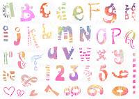 Creative Doodles - Funky Alphabet stencil