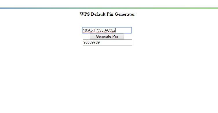 tp link pin code list