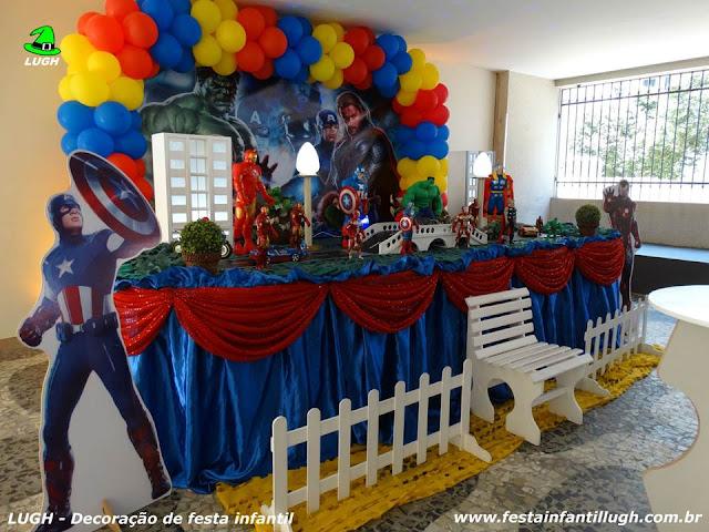 Decoraç u00e3o de festa Os Vingadores Aniversário infantil Festa Infantil  -> Decoração De Festa Os Vingadores