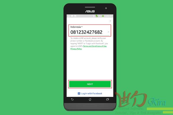 Wd-Kira, cara paling mudah daftar aplikasi line melalui android, cara terbaru membuat ID Line dengan android