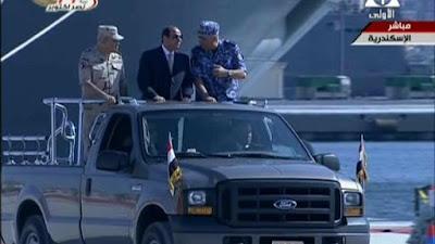 الرئيس السيسي يتفقد الوحدات البحرية الجديدة