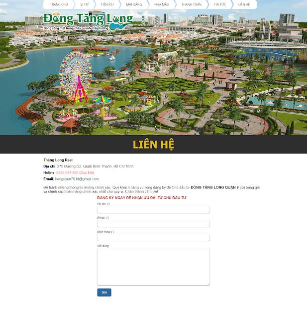 Thiết kế website bất động sản
