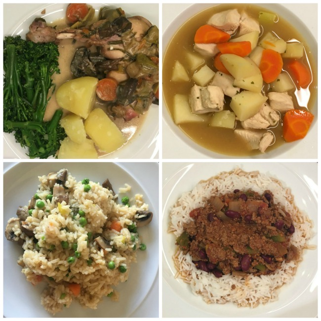 Slimming-World-Weigh-In-#4-and-Best-Recipe-of-the-Week-four-meals-chili-con-carne-rice-chicken-soup-slow-cooked-chicken