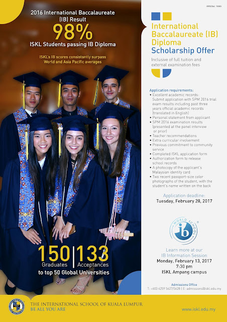 International Baccalaureate (IB) Diploma Scholarship Offer ISKL