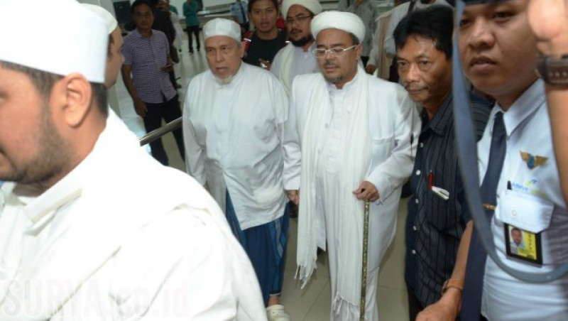 Rizieq Shihab tiba di Bandara Juanda