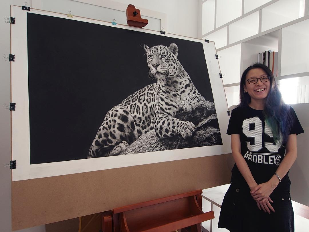 14-Majestic-Beauty-jaguar-and-Artist-Monica-Lee-zephyrxavier-Eclectic-Mixture-of-Pencil-Wild-Life-and-Portrait-Drawings-www-designstack-co