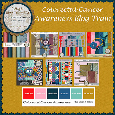 Digi Blog Train List Colorectal Cancer Awareness Freebie